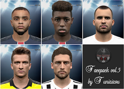 PES 2016 Facepack vol.5 by Tunizizou