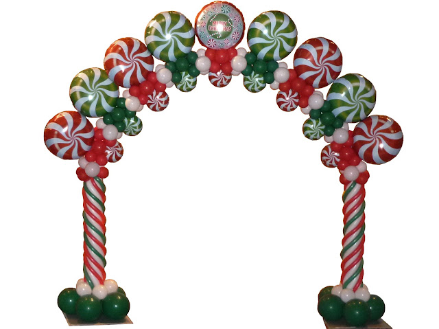 Christmas Candy Swirl Arch by Sue Bowler, CBA.