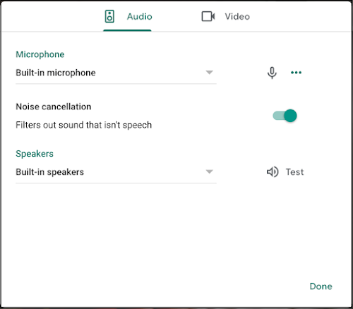 Filter out disruptive noise in Google Meet 1