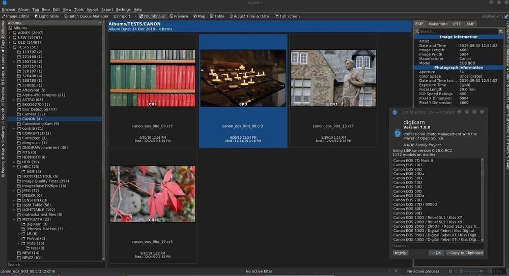 DigiKam - Excelente software de organización y administración de fotografías