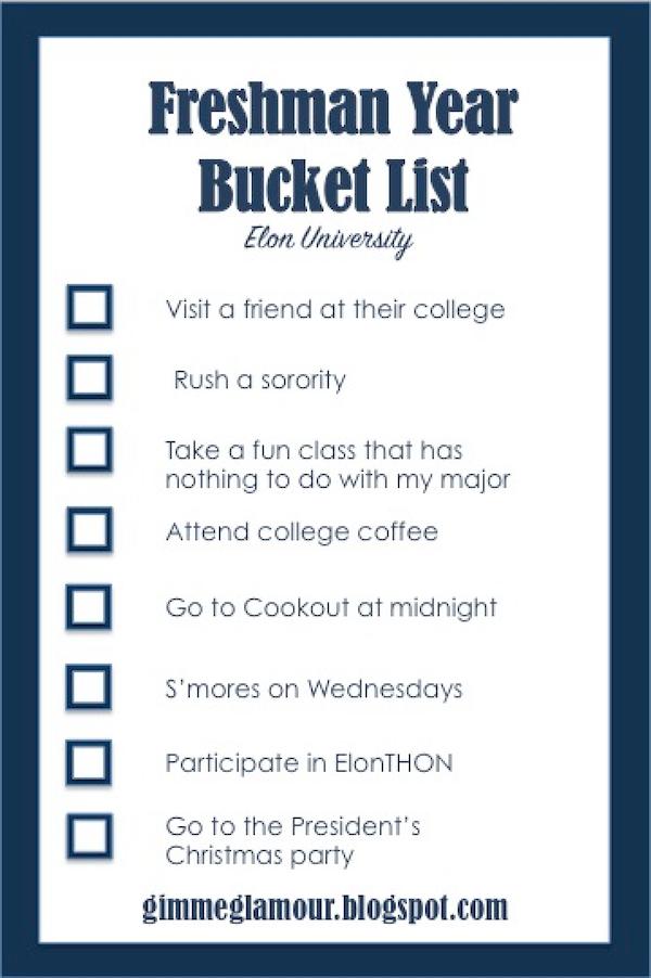 Crazy bucket list ideas for college