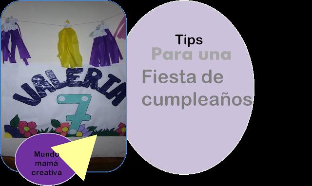 tips para una fiesta de cumpleaños