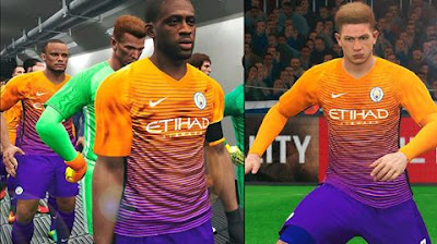 PES 2017 Manchester City Third Kits 2016-17 For Full & Demo by Memer Facemaker