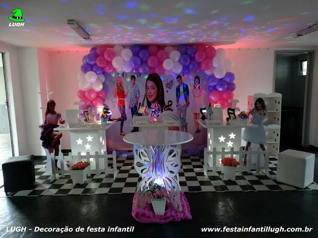 Tema infantil Violetta em decoração provençal para meninas