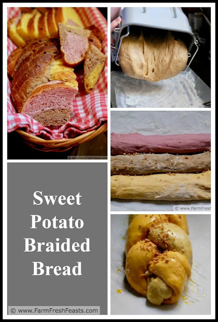 A sweet breakfast or brunch treat made with roasted sweet potatoes, this braided bread is an impressive addition to your holiday table.