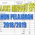 Rincian Minggu Efektif 2018-2019 Lengkap Dengan Kalender Pendidikan