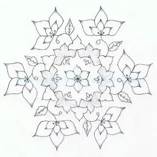 flower dot for diwali