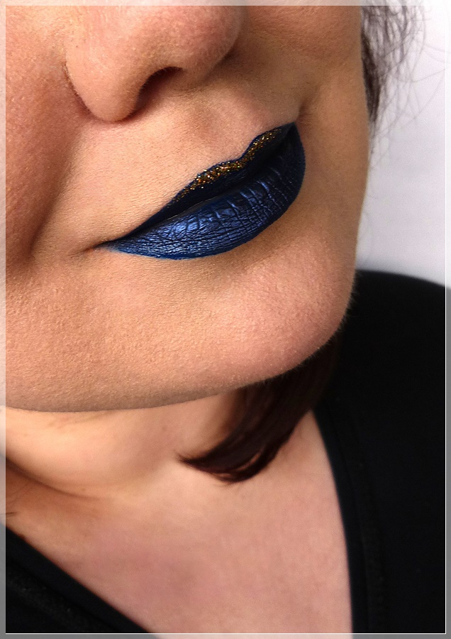 blaue Lippen Make Up
