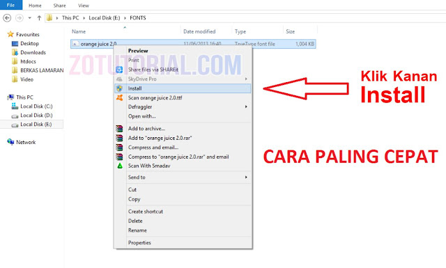 2 Cara Install Font CorelDraw, Photoshop, Ai dan MS Office | Cara Cepat