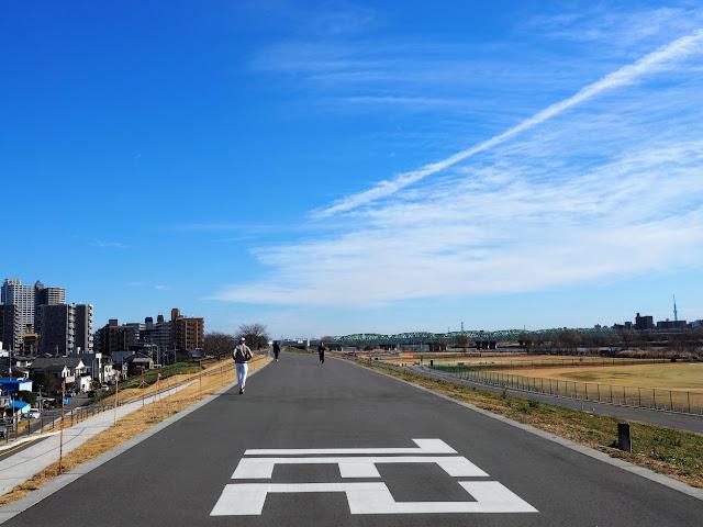 荒川自転車道 左岸海から23km