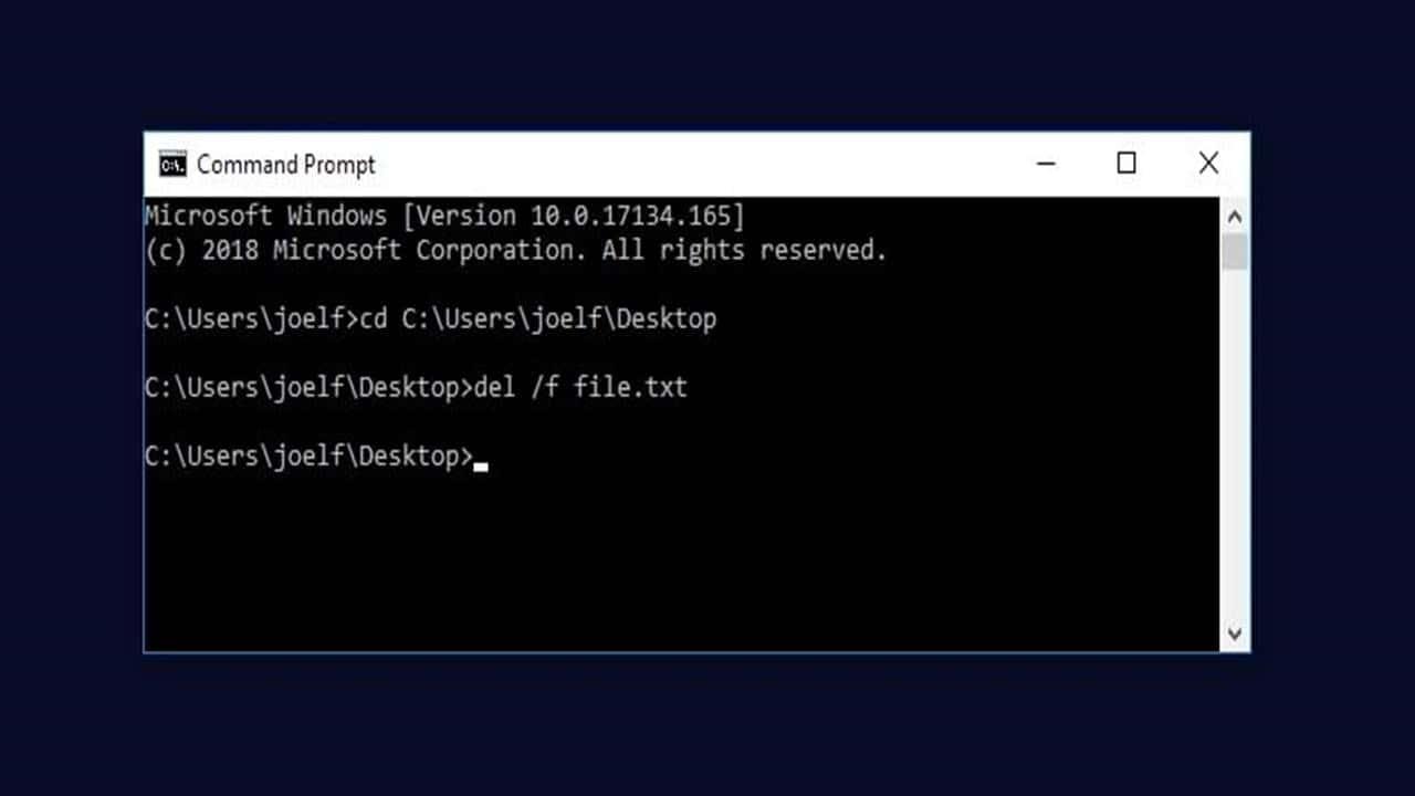 Menggunakan CMD / Command Prompt