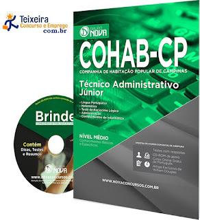 Apostila COHAB CP Campinas Técnico Administrativo e telefonista, gratis pdf.