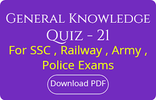 General Knowledge Quiz - 21