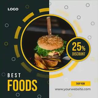 تصميمات سوشيال ميديا PSD للأطعمة