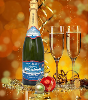 Say It With Champers Christmas personalised Champagne