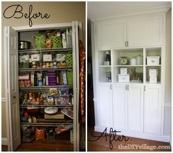 turning pantry into built in unit