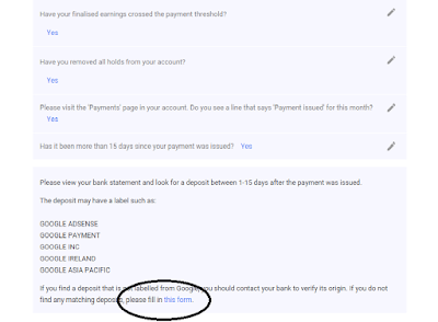 adsense payment troubleshoot