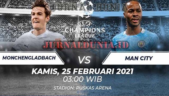 Prediksi Borussia Monchengladbach vs Manchester City , Kamis 25 Februari 2021 Pukul 03.00 WIB