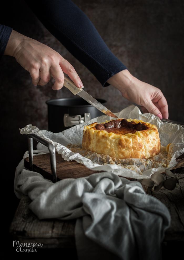 Tarta de queso de La Viña. Receta facilísima.