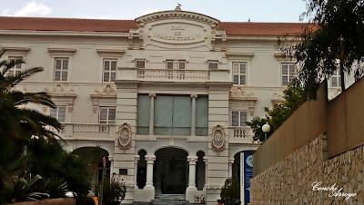 Fachada principal del antiguo asilo de los niños desamparados, hoy Universidad Politecnica de Cartagena.