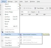 menu powerclip dan cara menggunakannya