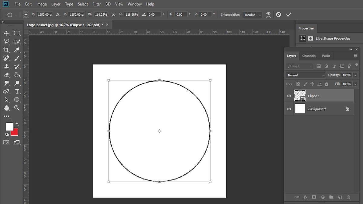 Eclipse tool di Photoshop