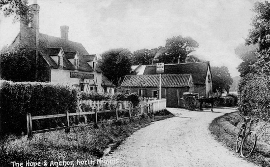 The Hope and Anchor, Station Road, Welham Green, August 25, 1915  Photograph by G Knott from the Images of North Mymms collection