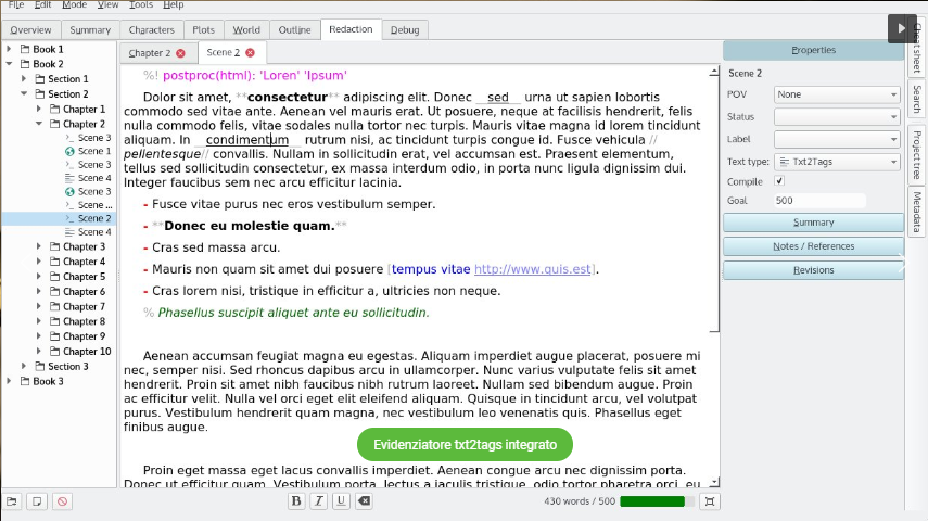 Manuskript, open source, scrittura, software, programma, free download