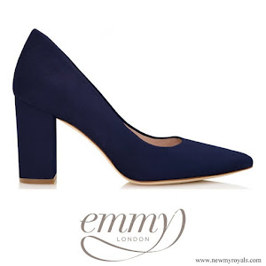 Kate Middleton wore Emmy London Josie Nany block heel pointed court shoes