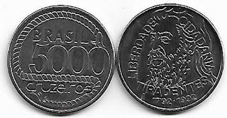 5000 Cruzeiros, 1992