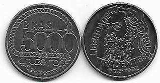 Moeda de 5000 Cruzeiros, 1992