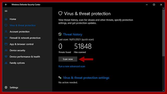 Melakukan Scanning Virus di Windows Defender
