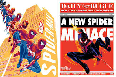 New York Comic Con 2020 Spider-Man PS4 Video Game Screen Prints by Doaly x Grey Matter Art