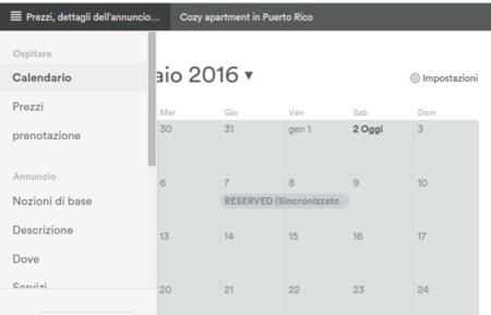 Blocca calendario Airbnb