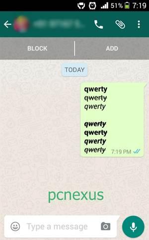 whatsapp formatting codes