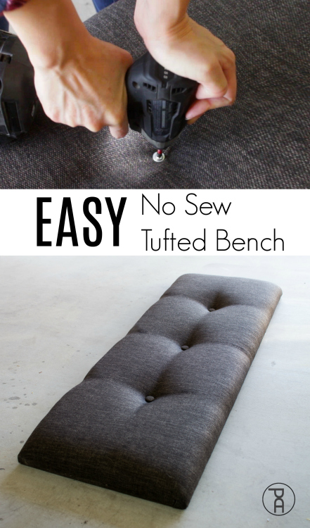 how to easy simple fast tufted headboard bench seat tutorial tufting video modern