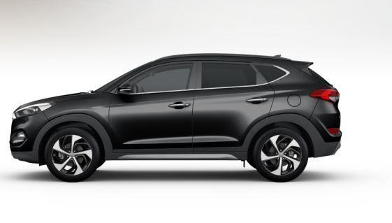 colori Nuova Hyundai Tucson 2016 Nero - Phantom Black profilo laterale di lato