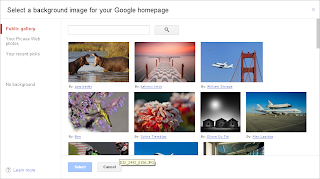 Google Homepage Public Gallery