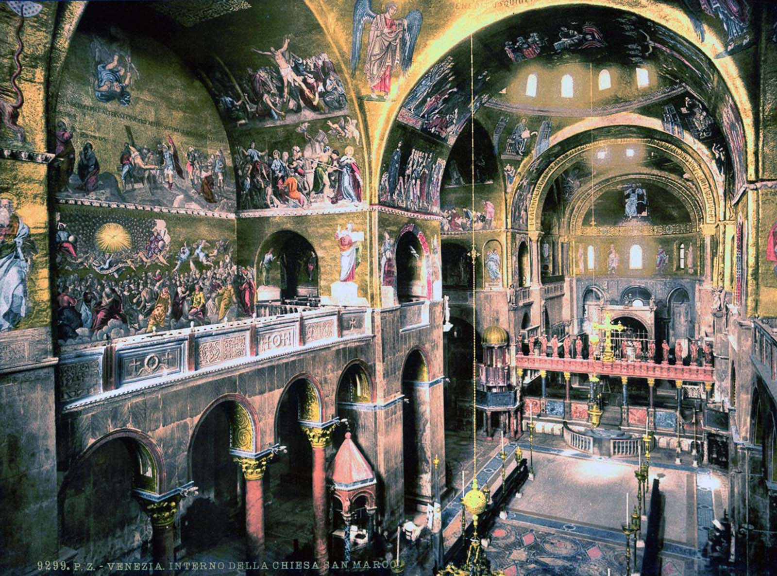 Inside St. Mark's Basilica.