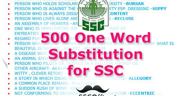 One Word Substitution PDF Download - ExamJagat