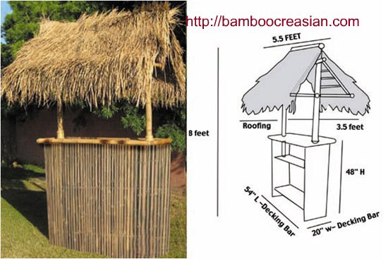 Quality Bamboo And Asian Thatch Bamboo Tikis Tiki