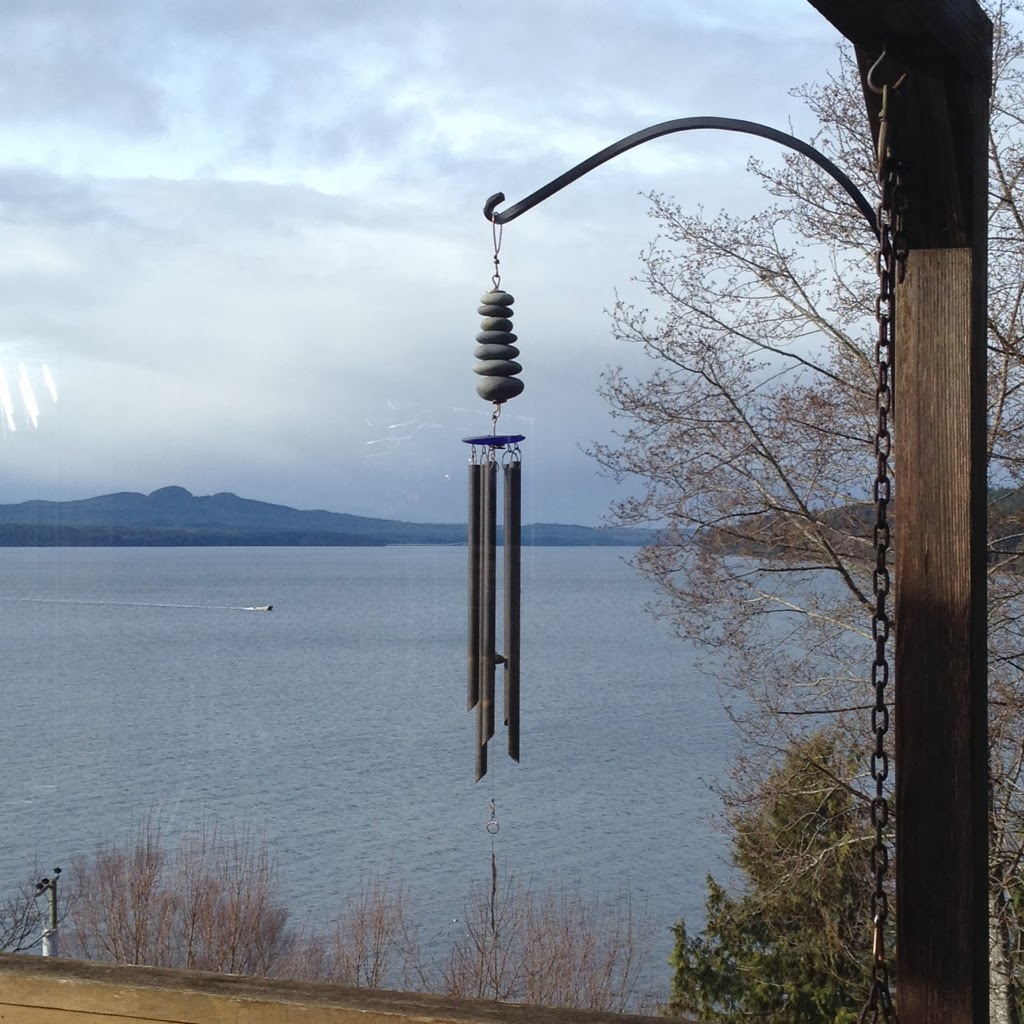 Beach Stone Wind Chime image sent from a customer. Coast Chimes