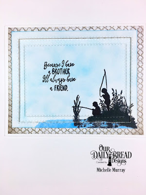 Stamp Set: Brother In Christ  Custom Dies: Double Stitched Rectangles  Paper Collection: Nautical