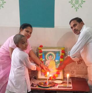 हर्षोल्लास के साथ मनाई गई महात्मा गौतम बुद्ध की जयंती  | #NayaSaberaNetwork