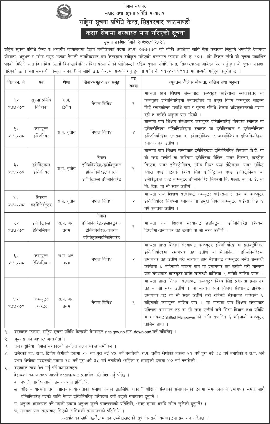 Nepal Government Jobs