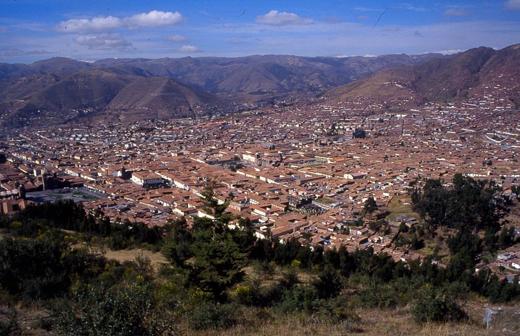 vue sur les hauteurs de Cuzco