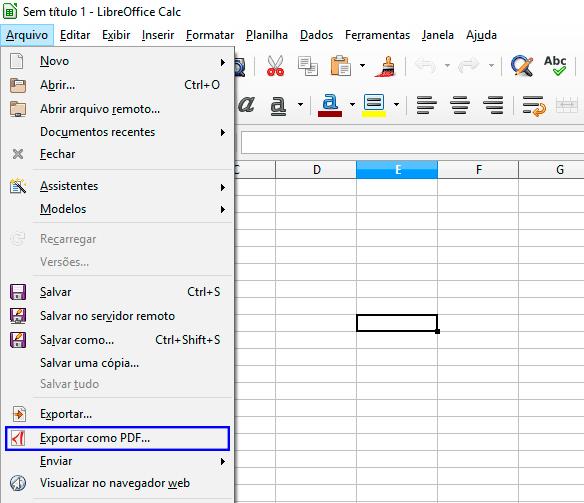 libreoffice calc exportar como pdf