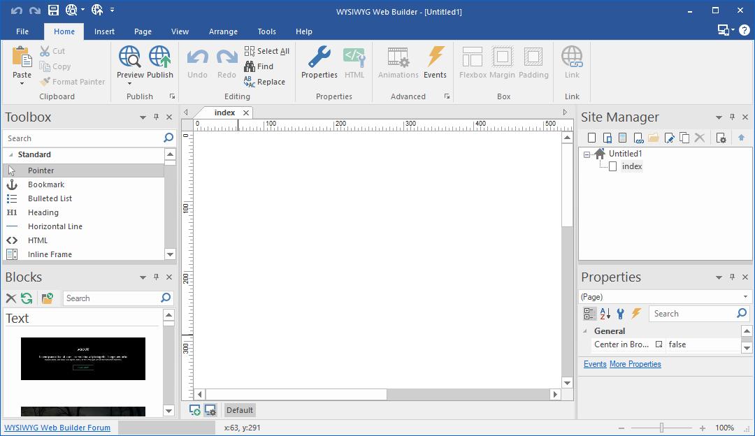 أفضل برنامج لتصميم موقع على شبكة الإنترنت WYSIWYG Web Builder 15.4.1
