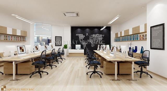 Thiết kế văn phòng hiện đại với không gian mở hiện đại đang là xu hướng được rất nhiều nhà đầu tư yêu thích