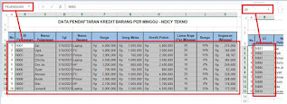 Cara menggunakan Name Box Excel